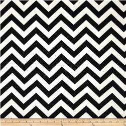 Premier Prints Zig Zag Twill Black Fabric