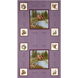 Moda Lady Slipper Lodge 24 In. Panel Purple