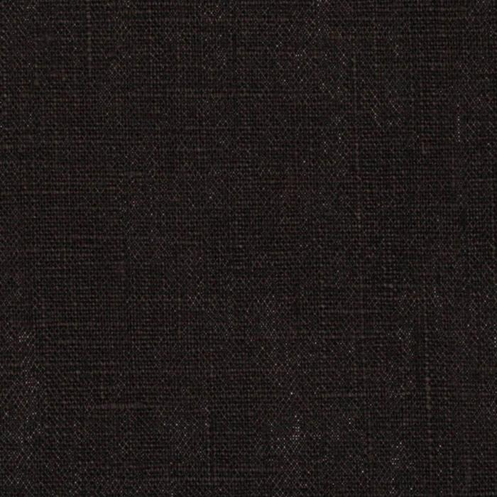 european 100 linen black discount designer fabric