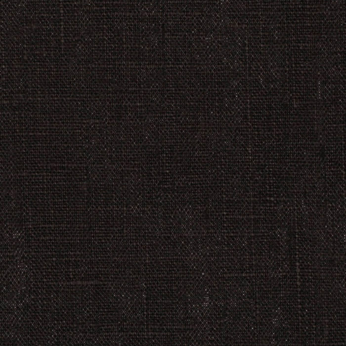European Linen Fabric Black