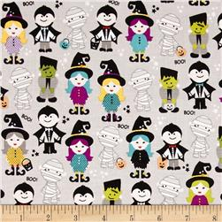 Riley Blake Halloween Magic Halloween Parade Gray