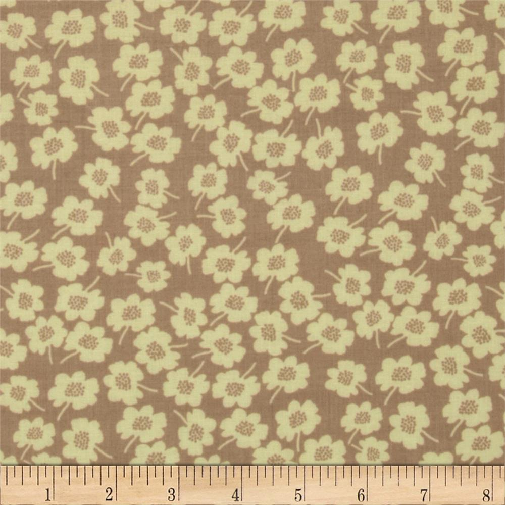 Secret Garden Daisy Dot Linen Taupe