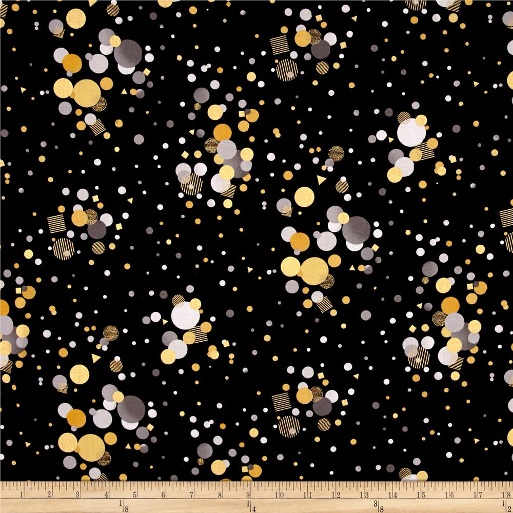 It's My Party Metallic Scattered Dots Antique/Black Gold