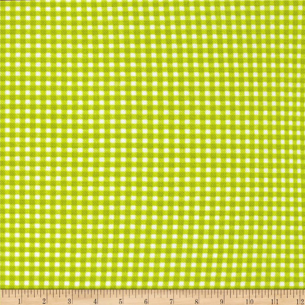 Michael Miller Tiny Gingham Lime