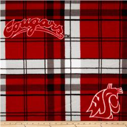 Washington State University Fleece Plaid Red