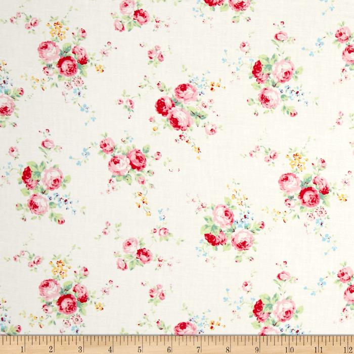 Lecien Flower Sugar Floral Trail White