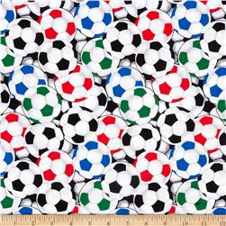 Game On Packed Soccer Balls Black/Multi Fabric