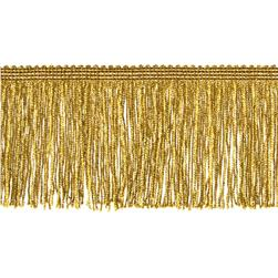 4'' Metallic Chainette Fringe Trim Gold