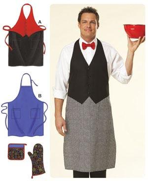 Kwik Sew Aprons, Oven Mitt, Pot Holder & Alphabet Appliqués Pattern