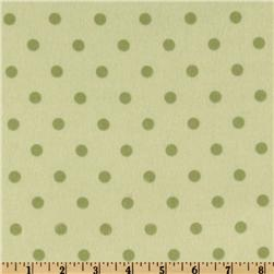 Cozy Cotton Flannel Polka Dot Celery