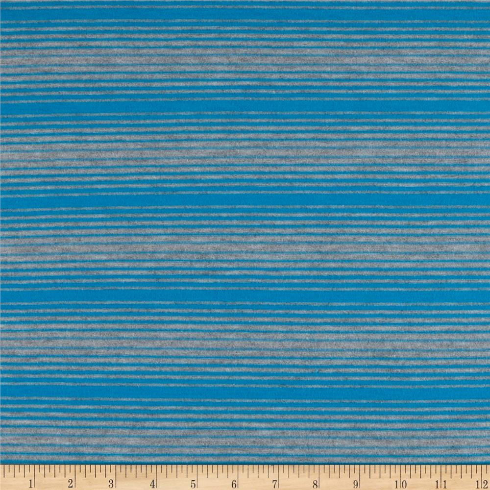 Stretch Rayon Blend Yarn Dyed Jersey Knit Stripes