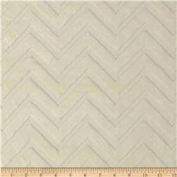 Minky Cuddle Embossed Chevron Ivory