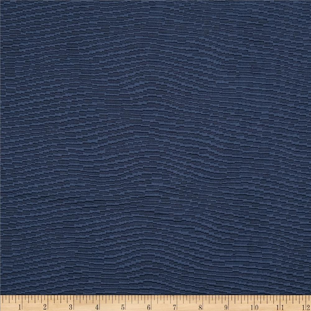 Waverly Billow Jacquard Navy