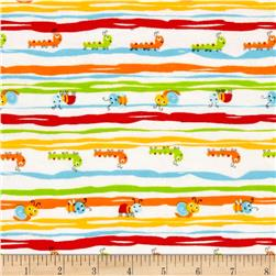 Comfy Flannel Repeating Bug Stripe White