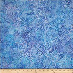 Artisan Batiks Splendid Large Leaves Periwinkle
