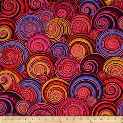 Kaffe Fassett Sateen Spiral Shells Red
