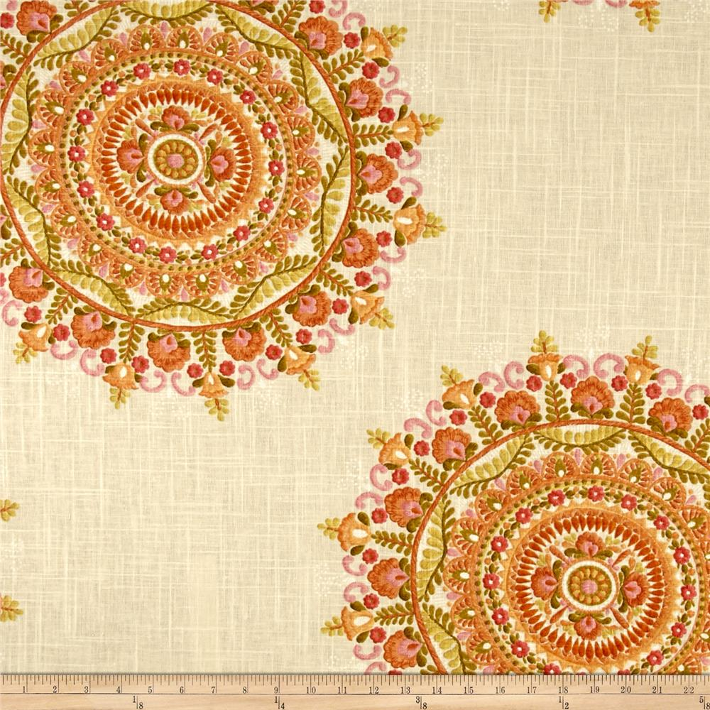 Richloom Margarita Linen Blend Orange