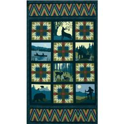 Mountain Majesty Panel Dark Turquoise