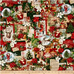 Enchanted Ornaments Digital Holiday Collage Antique