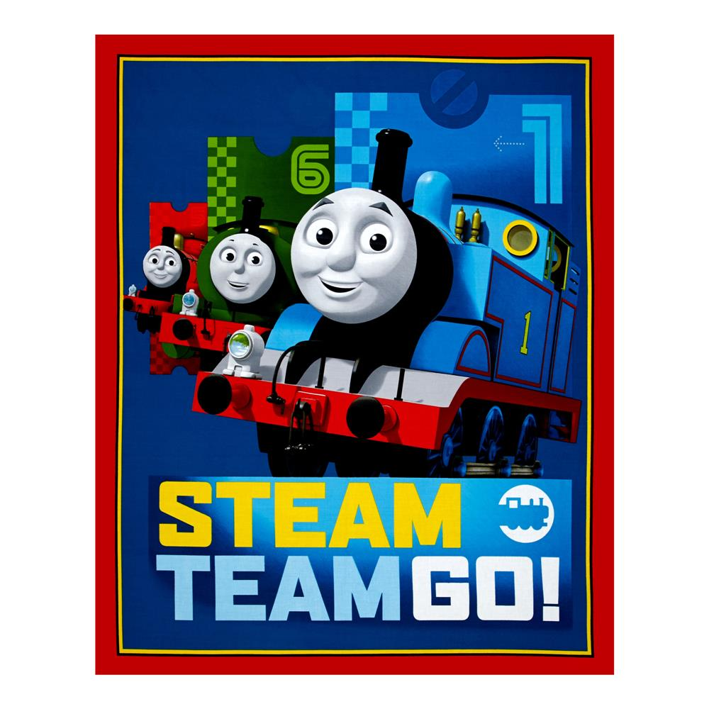 "Thomas The Train The Steam Team 36"" Panel Dark Blue"