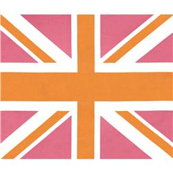 "Riley Blake Union Jack 36"" Panel Pink"