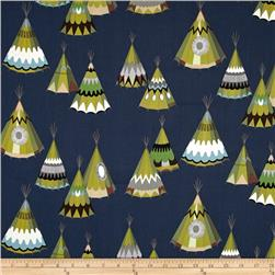 Alexander Henry Monkey's Bizness We See Teepees Midnight Blue