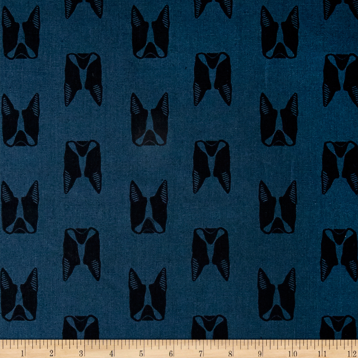 Image of Maker Maker Linen Blend Captain Blue Fabric
