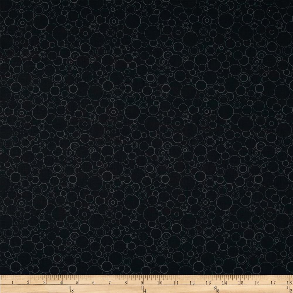Poppy Panache Circles Black/Grey
