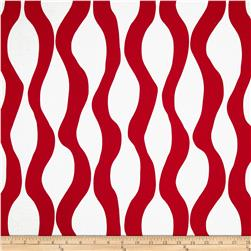 Poppy Modern Lava Stripe Red/White