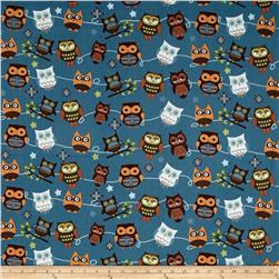 Riley Blake Home Decor Hoot Roll Call Blue