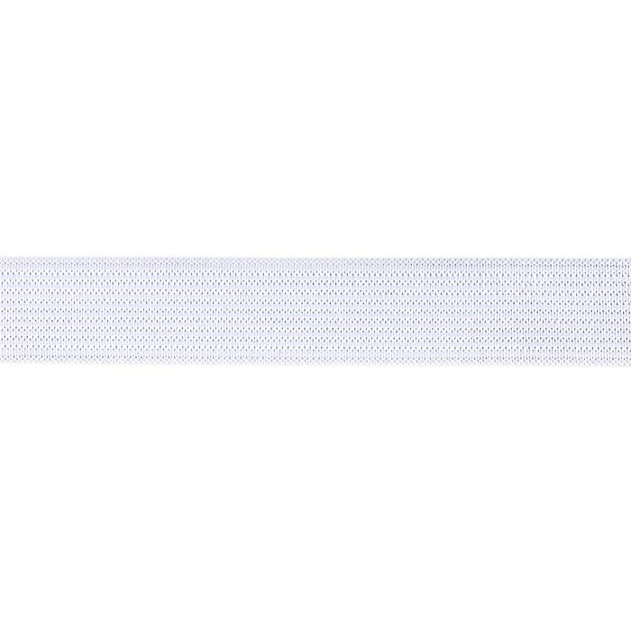 3/4'' Knit Non-Roll Elastic White - By the Yard