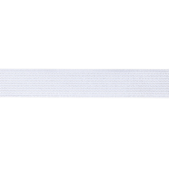 3/4'' Knit Non-Roll Elastic White - By the