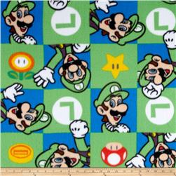 Nintendo Super Mario Fleece Luigi Hands Up Green