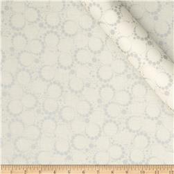Orbit Metallic Small Circle Dot Silver/Cream