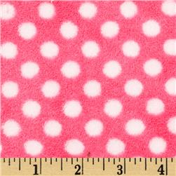 Plush Coral Fleece Polka Dot Fuschia/Rose