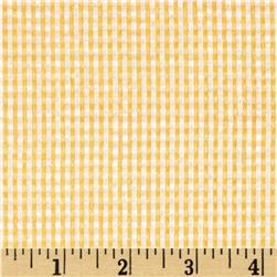 Kaufman Classic Seersucker Check Lemon Fabric