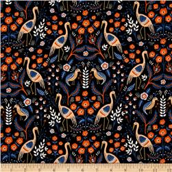 Cotton + Steel Rifle Paper Co. Les Fleurs Tapestry Black