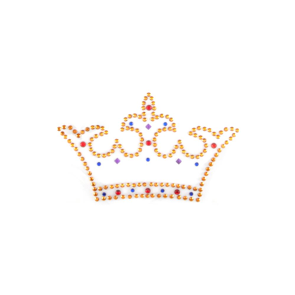 Jeweled Crown Rhinestud Applique Royal