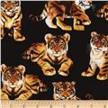 Timeless Treasures Tiger Cubs Black
