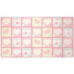 Paisley Romance Blocks Panel Pink
