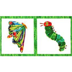 The Very Hungry Caterpillar Panel Butterfly White/Multi Fabric