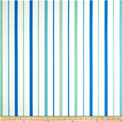 Largo Acrylic Indoor/Outdoor Stripe Aqua
