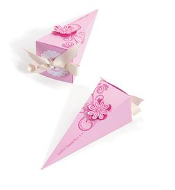 Sizzix  Bigz Pro Die - Box, Long Triangle Wth Scallop Circle & Tag