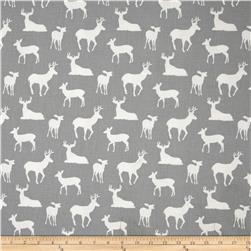 Premier Prints Deer Silhouette Cool Grey Fabric