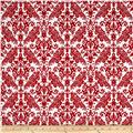 Riley Blake Medium Damask White/Red