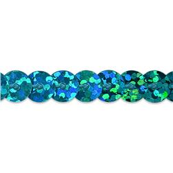 6mm Slung String Sequin Trim Roll Turquoise