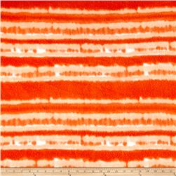 Fleece Print Abstract Tie Dye Orange