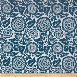 Joel Dewberry Modernist Voile Blockprint Blossom Peacock