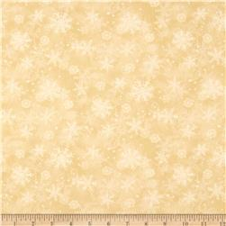 Peace On Earth Snowflakes Ivory