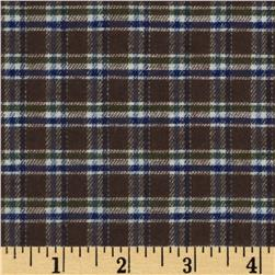 Yarn-Dyed Flannel Plaid Brown/Blue